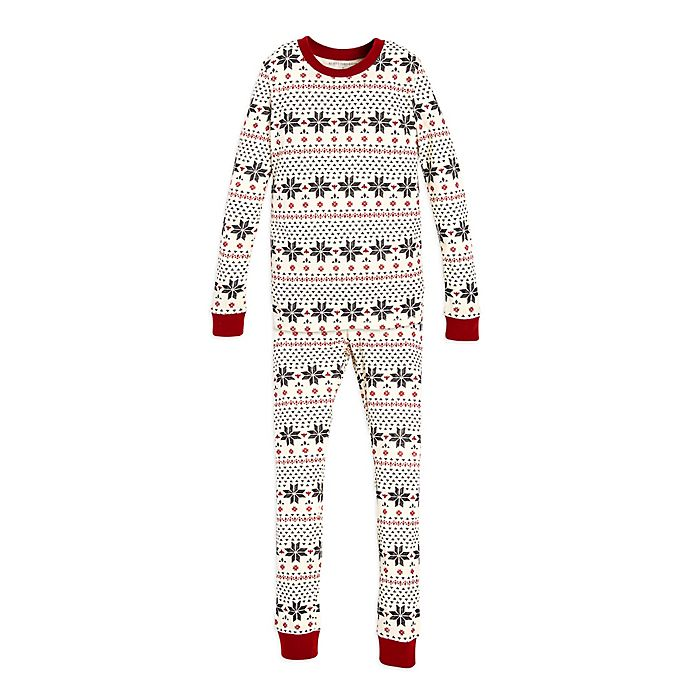 c9847a176393 Burt s Bees Baby® Child s 2-Piece Snowflake Holiday Pajama Set in ...