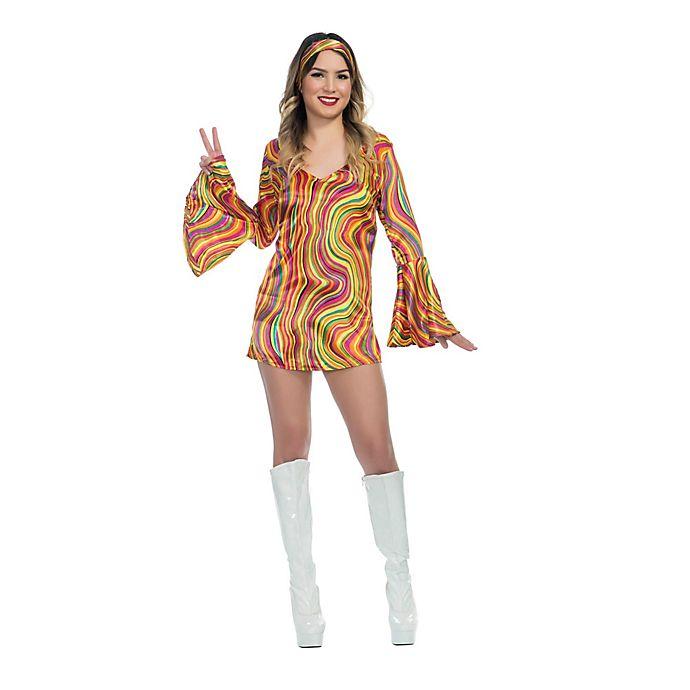 Alternate image 1 for Rainbow Lights Disco Diva Teen Halloween Costume