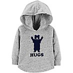 OshKosh B'Gosh® Size 9-12M Bear Hug Raglan Hoodie in Grey