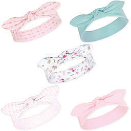 Hudson Baby® Little Treasure Boho Size 0-24M 5-Pack Headbands in Pink
