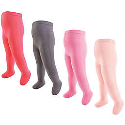 Touched by Nature 4-Pack Thick Organic Cotton Tights in Grey