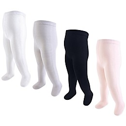 Touched by Nature 4-Pack Organic Cotton Tights in Pink