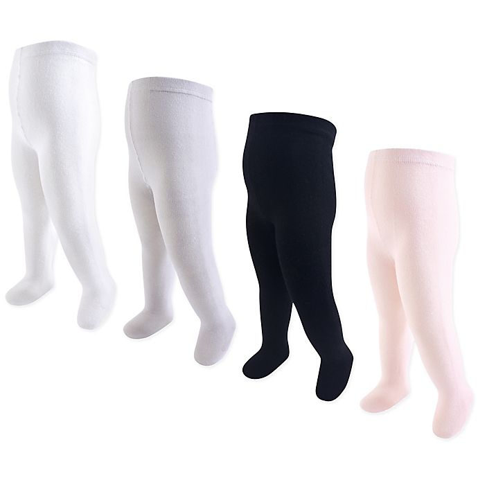 Alternate image 1 for Touched by Nature 4-Pack Organic Cotton Tights in Pink