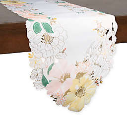 Helena Floral Table Runner in Off White