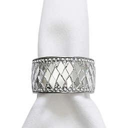 Bling Napkin Rings in Silver (Set of 4)