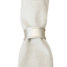 Rustic Charm Napkin Rings in Silver (Set of 4)