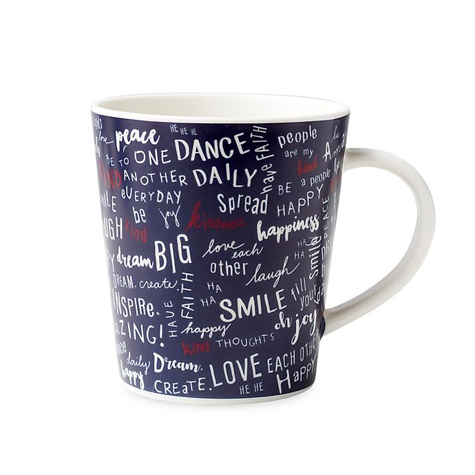 Alternate image 1 for ED Ellen DeGeneres Crafted by Royal Doulton® Create Kindness Mug in Blue
