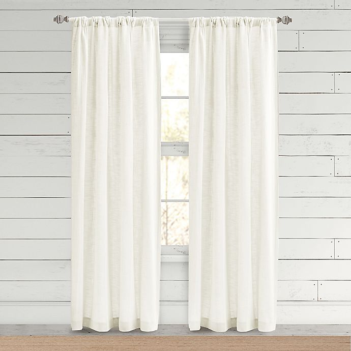 Alternate image 1 for Bee & Willow™ Home Somerton 95-Inch Rod Pocket Window Curtain Panel in White