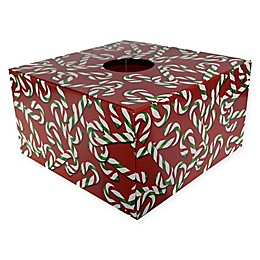 Christmas Tree Box 20-Inch Candy Cane Tree Stand Cover in Red