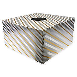 Christmas Tree Box 20-Inch Tree Stand Cover in Gold/Silver