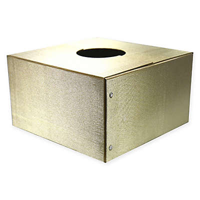 Box Christmas Tree Stand Cover in Gold