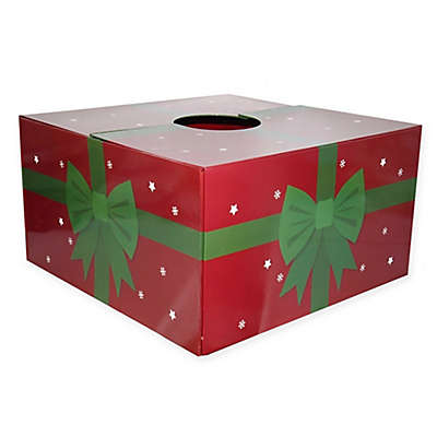 Christmas Tree Box 20-Inch Present Tree Stand Cover in Red