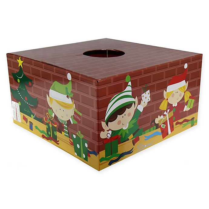 Alternate image 1 for Christmas Tree Box 20-Inch Elf Tree Stand Cover in Red