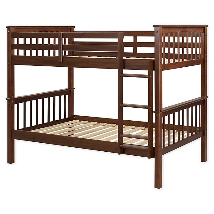 Alternate image 1 for Forest Gate Charlotte Solid Wood Twin Bunk Bed with Trundle in Walnut