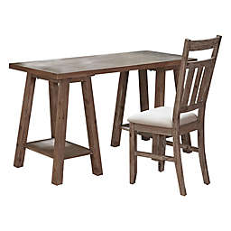 Hillsdale Furniture Oxford Desk and Chair Set in Cocoa