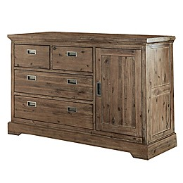 Hillsdale Furniture Oxford 4-Drawer Dresser with Door in Cocoa