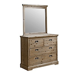 Hillsdale Furniture Oxford 4-Drawer Dresser with Mirror in Cocoa