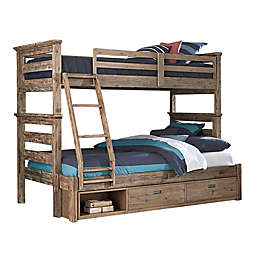 Hillsdale Furniture Oxford Oliver Bunk Bed with Storage in Cocoa