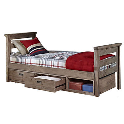 Hillsdale Furniture Oxford Oliver Bed with Storage in Cocoa