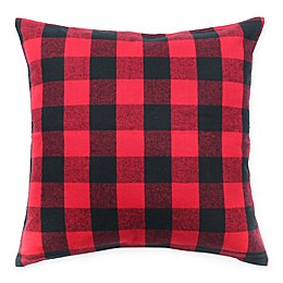 HUI Resource Plaid Square Throw Pillow in Black/Red