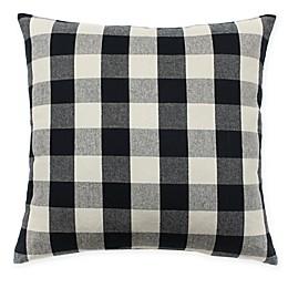 HUI Resource Plaid Square Throw Pillow in Black/Cream