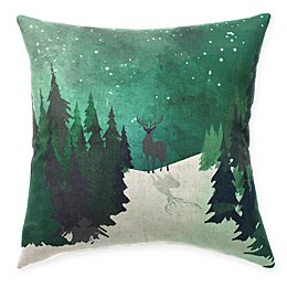HUI Resource Rocky Mountain Moose in Nature Square Throw Pillow