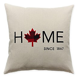 HUI Resource Home Leaf Square Throw Pillow in Red/Black Plaid
