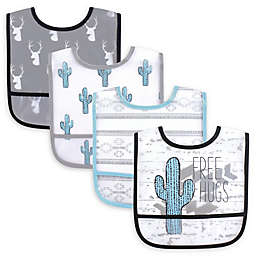 Yoga Sprout 4-Pack Waterproof Free Hugs Bibs in Green