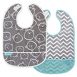 Kushies® Cleanbib 2-Pack Waterproof Bib with Pocket