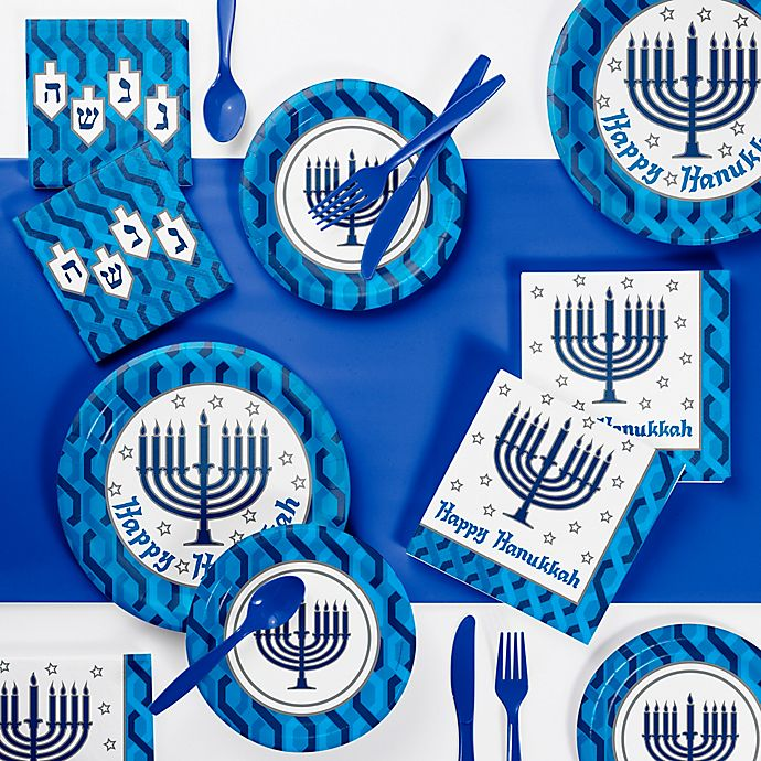 Alternate image 1 for Creative Converting™ 73-Piece Menorah Party Supplies Kit