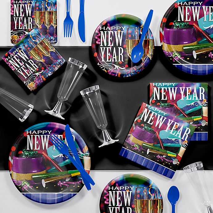 Creative Converting 81 Piece 2019 New Year S Cheers Party Supplies Kit Bed Bath Beyond