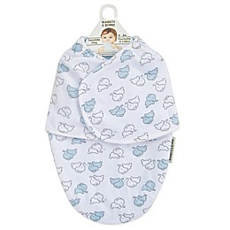 Blankets & Beyond Baby Elephant Swaddle in Blue