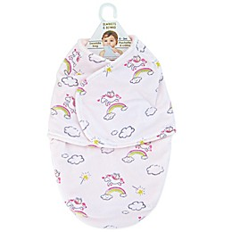 Blankets & Beyond Unicorn Magic Swaddle in White