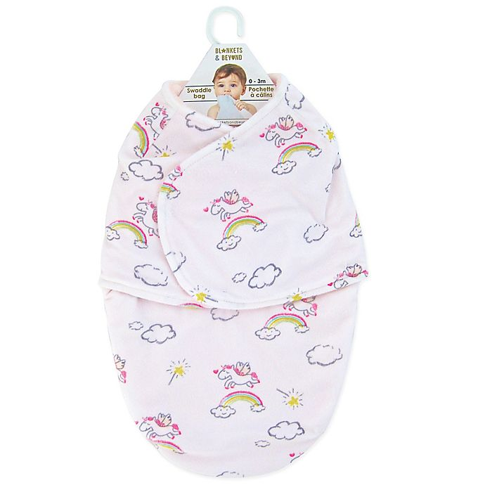 Alternate image 1 for Blankets & Beyond Unicorn Magic Swaddle in White