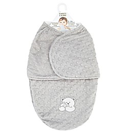 Blankets & Beyond Bump Bear Swaddle in Champagne