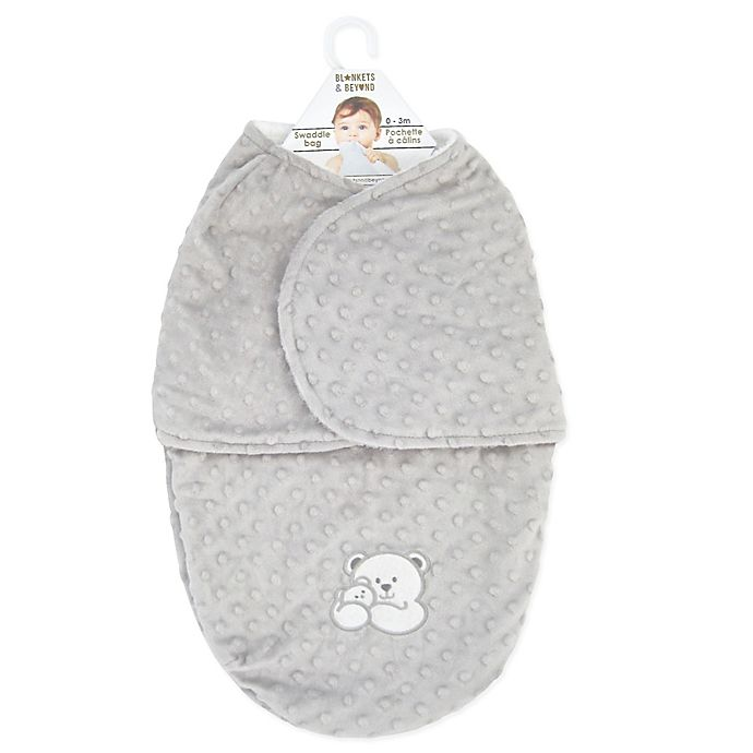 Alternate image 1 for Blankets & Beyond Bump Bear Swaddle in Champagne