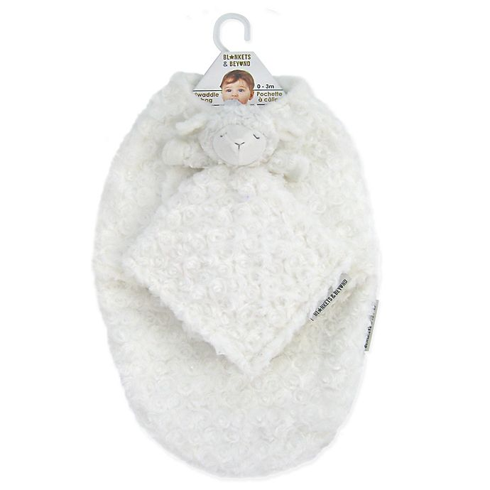 Alternate image 1 for Blankets & Beyond 2-Piece Rose Swaddle and Security Blanket Set in Ivory