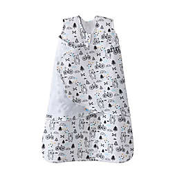 HALO® SleepSack® Huggy Bears 2-in-1 Cotton Swaddle in White/Black