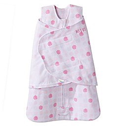 HALO® SleepSack® Size 0-3M Adjustable Dot Swaddle in Pink