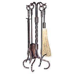 UniFlame® Twist 5-Piece Log Rack in Antique Copper