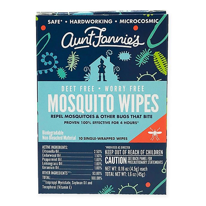 Alternate image 1 for Aunt Fannies 10-Pack Mosquito Wipes