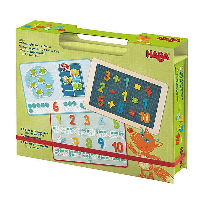 Alternate image 1 for HABA 1, 2 Numbers & You Magnetic Game Box