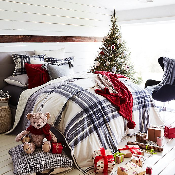 Alternate image 1 for UGG® Tarni Plaid Reversible Comforter Set