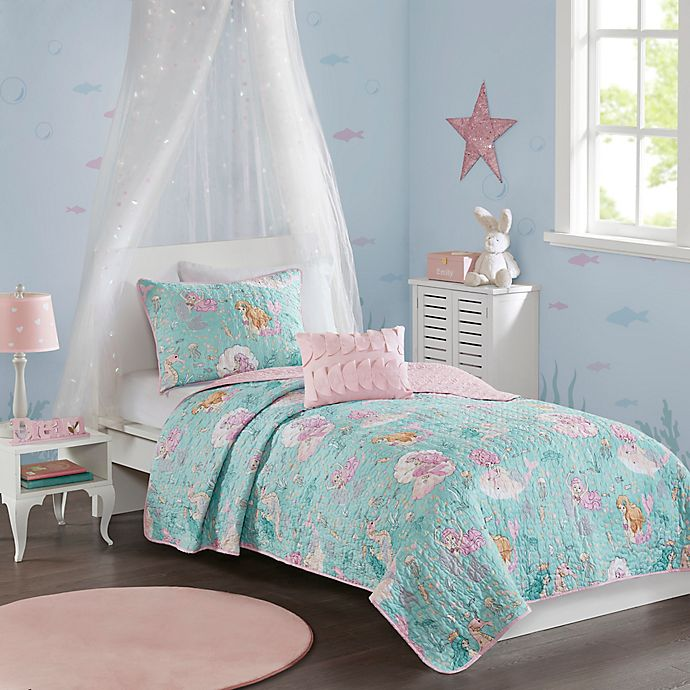 Alternate image 1 for Mi Zone Kids Darya Reversible Coverlet Set
