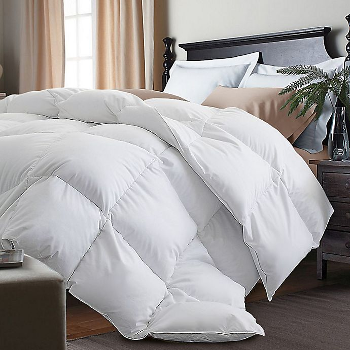 kathy ireland white goose feather and goose down comforter bed bath and beyond canada. Black Bedroom Furniture Sets. Home Design Ideas