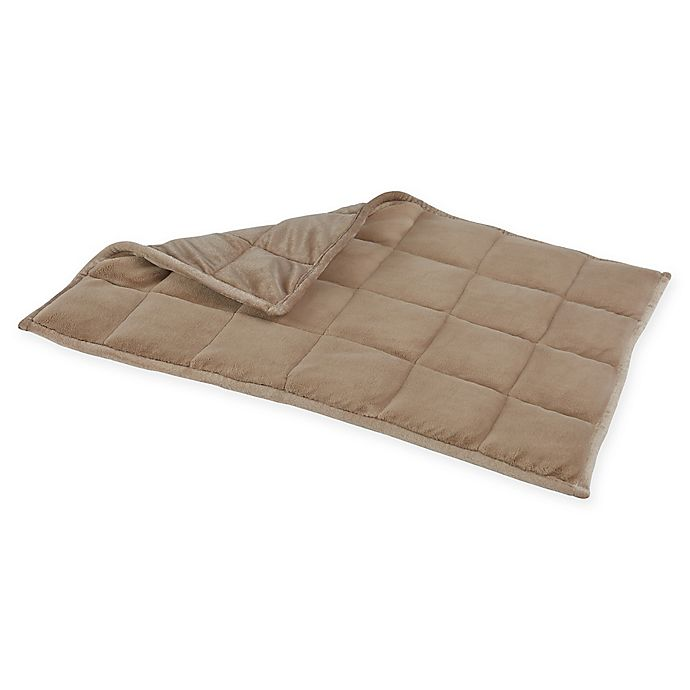 Alternate image 1 for Therapedic® Small/Medium Weighted  Back/Lap Mat in Taupe