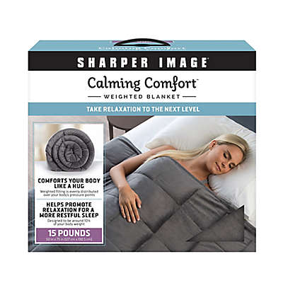 Sharper Image® Calming Comfort 15 lb. Weighted Blanket in Grey
