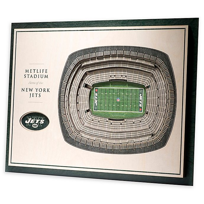 Alternate image 1 for NFL New York Jets 5-Layer StadiumViews 3D Wall Art