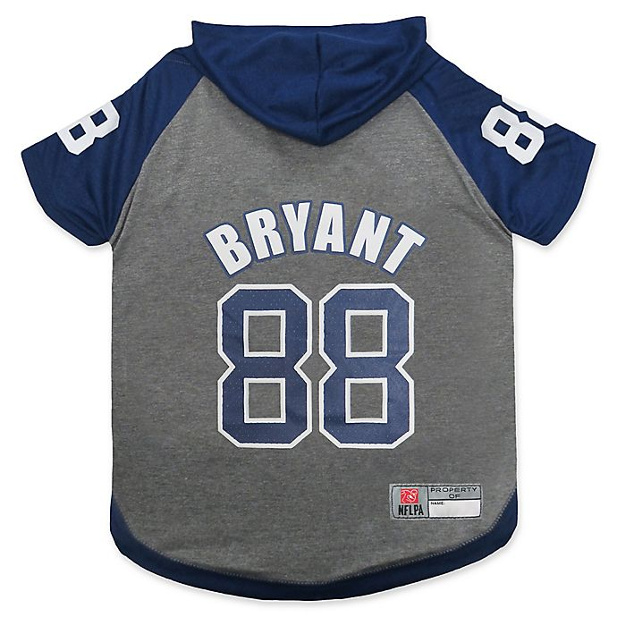 Alternate image 1 for NFL Dallas Cowboys Dez Bryant Extra Small Pet Hoodie T-Shirt