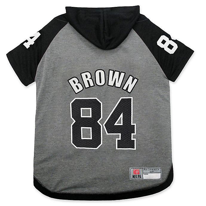 Alternate image 1 for NFL Pittsburgh Steelers Antonio Brown Medium Pet Hoodie T-Shirt